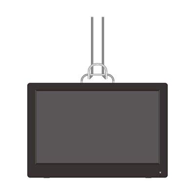 画像1: 14.1インチ液晶 地デジ録画機能付きポータブルテレビ CR-S8135821