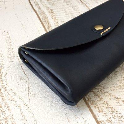画像1: 【Lien】 栃木レザーベリーアコーディオンウォレット 長財布  メンズ レディス 財布 日本製 CR-S5147201