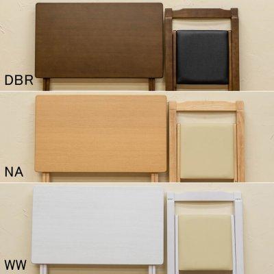 画像3: 【定価より50%OFF!】折りたたみデスク&チェアセット BR/NA 家具 デスク 机 CR-S8401551