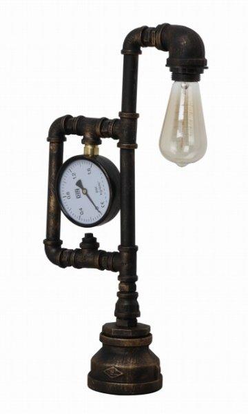 画像1: デスクランプ パイプ1灯メーター付 インダストリアルスタイル・インテリア 家電 照明 CR-S7536291 (1)