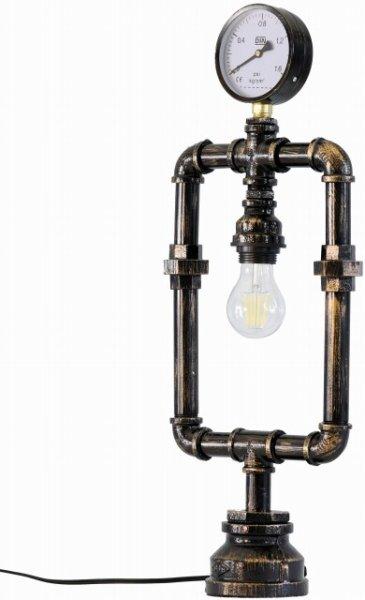 画像1: デスクランプ 1灯丸脚メーター付 インダストリアルスタイル・インテリア 家電 照明 CR-S7536546 (1)