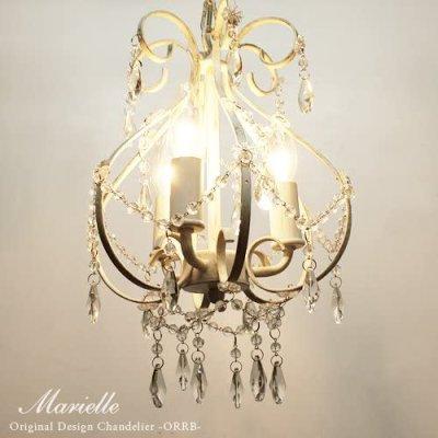 画像1: Marielleマリエール 3灯 シャンデリア ホワイト アンティーク (OH-009/3)  家電 照明 CR-S4818867