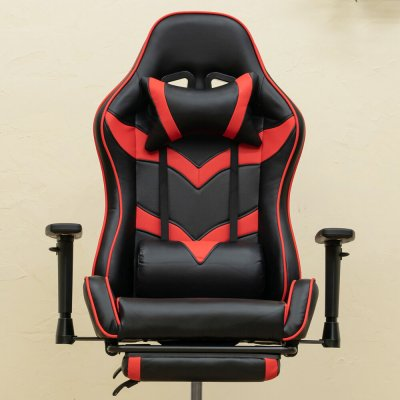 画像3: 【定価より50%OFF!】ゲーミングチェアフットレスト付 BL/RD/YE/GR 家具 椅子 チェア CR-S7821715