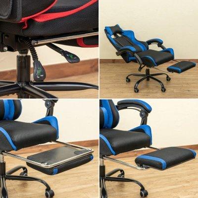 画像3: 【定価より50%OFF!】フルフラットメッシュレーシングチェア BK/BL/GR/RD 家具 椅子 チェア CR-S7168868