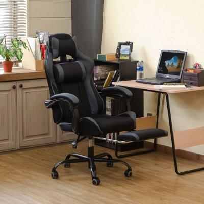 画像1: 【定価より50%OFF!】フルフラットメッシュレーシングチェア BK/BL/GR/RD 家具 椅子 チェア CR-S7168868